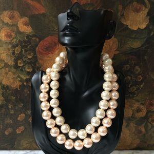 Vintage Richelieu Double Strand Pearl Necklace
